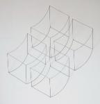 Gekrümmte Quader, 2009, Edelstahl, 152 x 140 x 18 cm